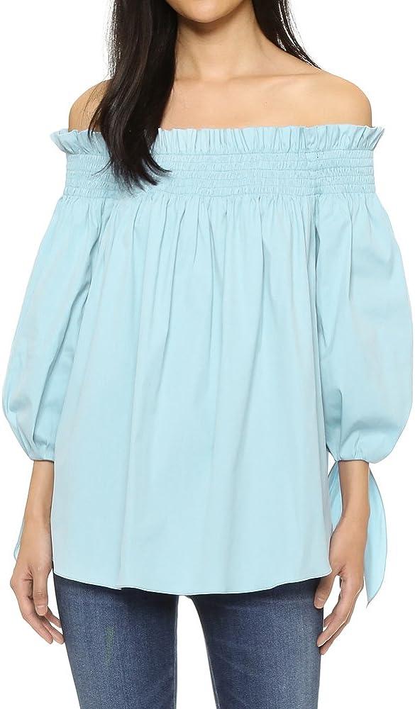 Romacci - Blusa para Mujer con Cuello Alto y Mangas 3/4, Color ...
