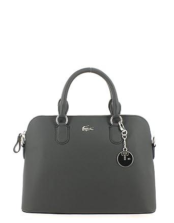 3ccdf2a7f0 Lacoste femme Daily Classic Sac porte epaule Noir (Black): Amazon.fr ...