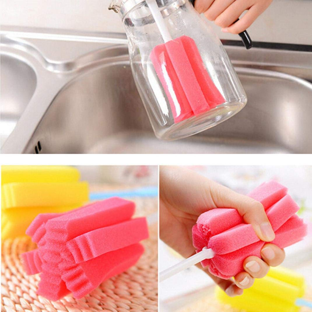 ❤JPJ(TM)❤️_Home decoration 1 PC New Creative Kitchen Cleaning Tool Sponge Brush For Wineglass Bottle Coffe Tea Glass Cup (Multicolor) by ❤JPJ(TM)❤️_Home decoration (Image #9)