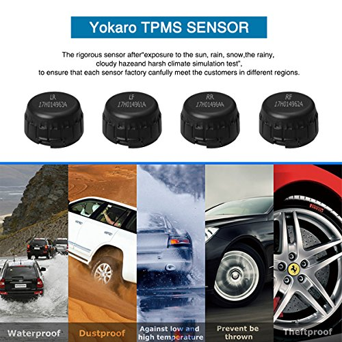 YOKARO Tire Pressure Monitoring System, Hard-wire TPMS with Adjustable Angle Monitor - 4 External Sensors by YOKARO (Image #5)