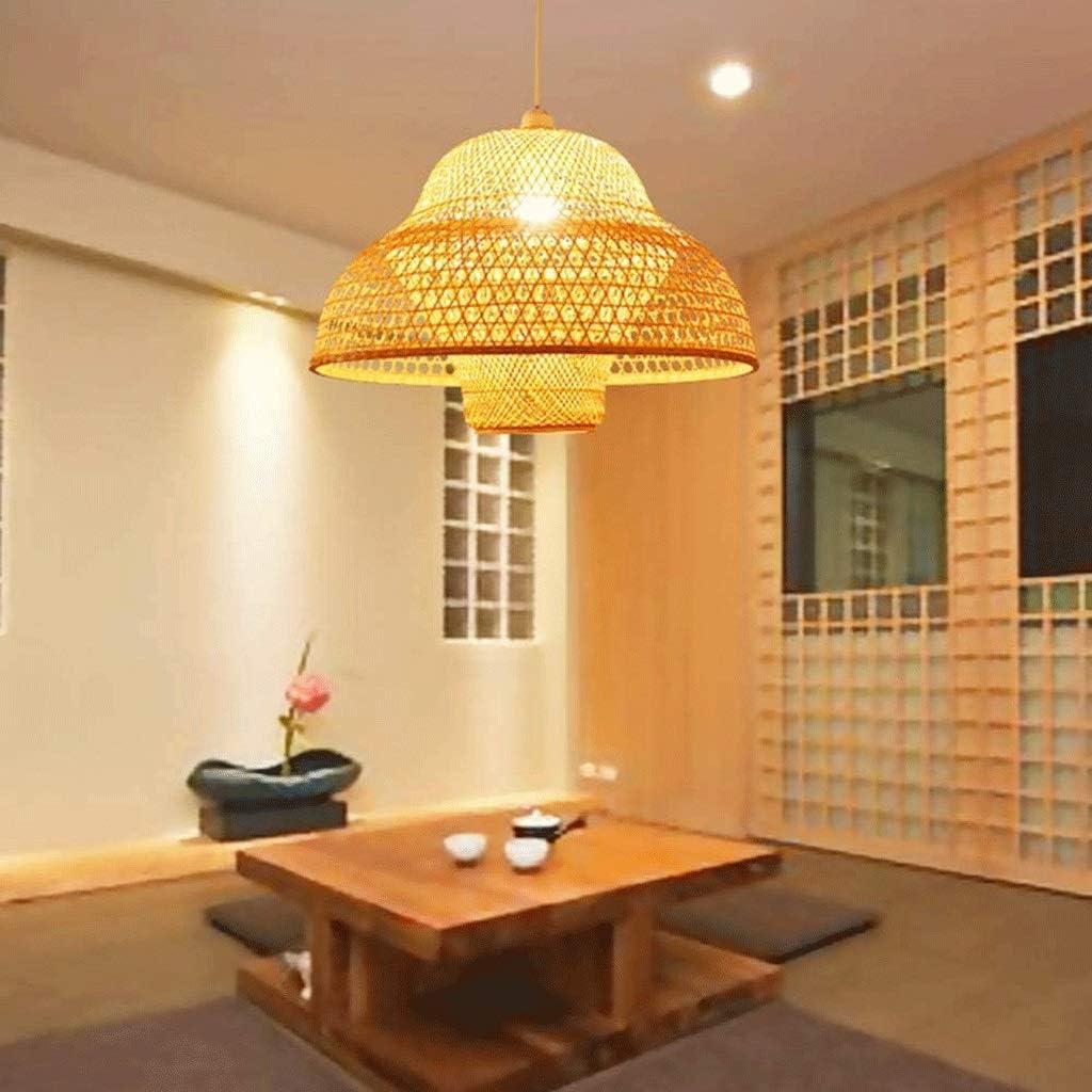 SQDDM Nuevos estilo chino de bambú natural Lámparas, Lámparas de tatami Art Deco en Tea Room del restaurante rural ...