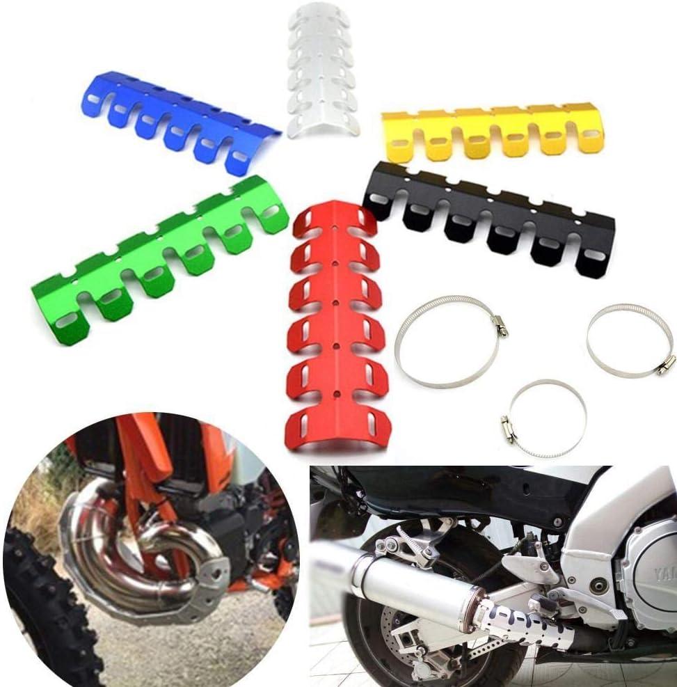YUQINN Motorradteile Motorrad-Auspuff-Rohr-Schutz Hitzeschild Abdeckung Motorrad Zubeh/ör Teile Hitzeschild For KTM EXC 125//250//300//450 Color : Black