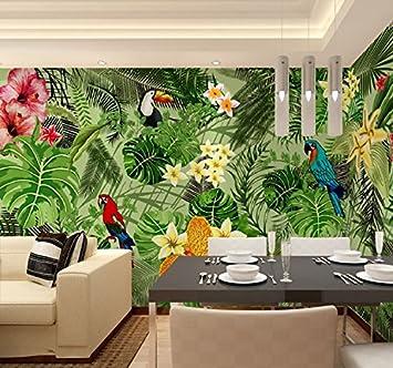 Lzhenjiang Wandbilder Der Tropische Regenwald 3D Dschungel Tapete ...