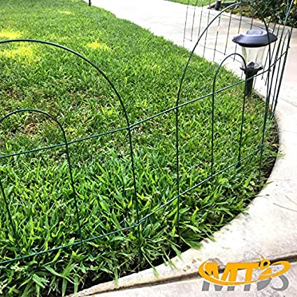MTB Green Garden Border Folding Fence Lawn Yard Fence 32 Inch x 10 Feet,Pack of 5 sets,Overall Length 50 Feet,Landscape Panel,Folding Patio Fences Flower Bed Pet Barrier Section Panel Decorative Fence