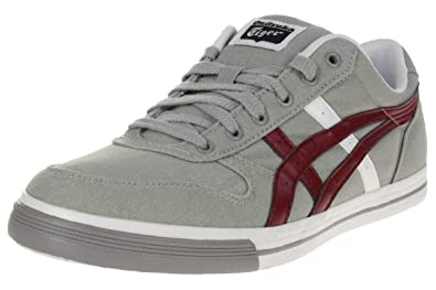 huge selection of new lifestyle best cheap ASICS Aaron CV Sneaker Grey/Burgundy, Grey, 37: Amazon.co.uk ...