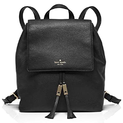 latest selection online sale new concept Kate Spade Wilder Grey Street Backpack Style with Drawstring in Pebbled  Leather