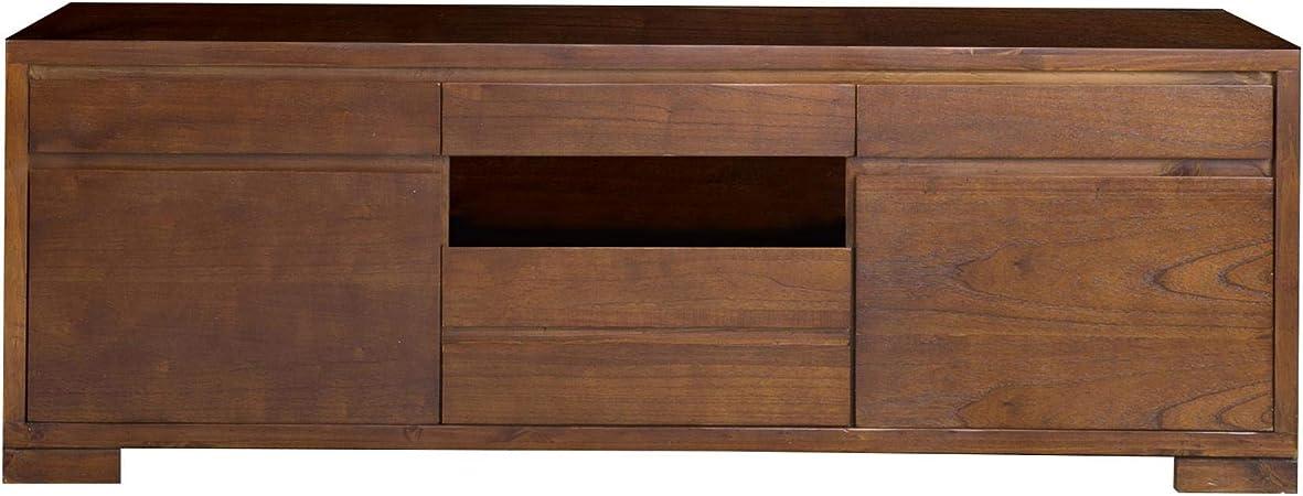 BANAK IMPORTA Mueble para televisor, Teca, X-Large: Amazon.es: Hogar