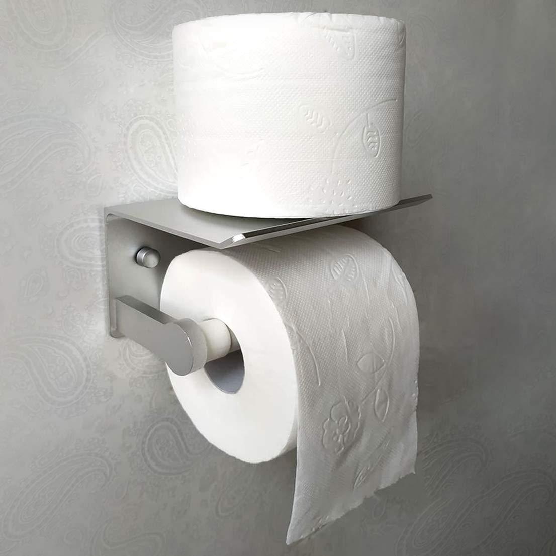 domymob Porte-Papier Toilette adh/ésif 3M sans per/çage avec /étag/ère 3e g/én/ération
