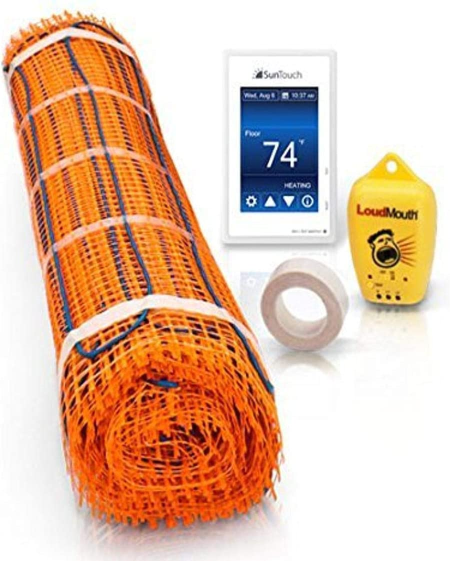 SunTouch 81009688 TapeMat Kit Radiant Floor Heat Mat and SunStat Command Thermostat, 120V, 30 Sq. Ft, Plain