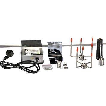 Acero inoxidable pincho giratorio para brochetas Gas Parrilla Barbacoa + Motor 220 – 240 V 104