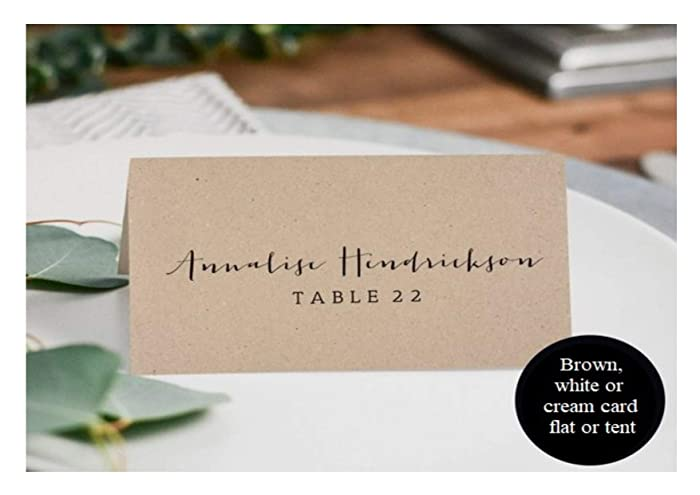 Pack Of 10 Rustic Wedding Place Cards Tent Cards Or Flat Place