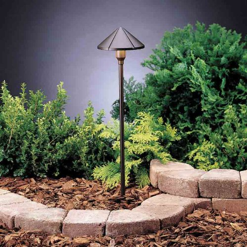 Kichler 15326AZT6 Center Mount 1LT Incandescent/LED Hybrid LV Landscape Path & Spread Lights, Textured Architectural Bronze Finish (6-Pack) (Textured Architectural Bronze Finish)