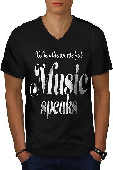 Wellcoda Music Love Mens T-shirt Art Graphic Design Printed Tee