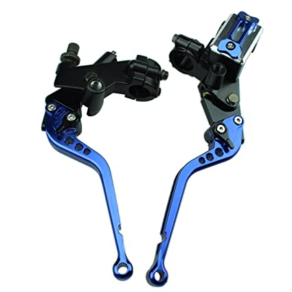 "Rzmmotor CNC 7/8"" Master Cylinder Hydraulic Reservoir Brake Cable Clutch Levers Universal Fit"