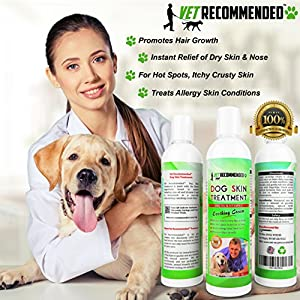 Vet Recommended - Dog Dry Skin Treatment - Helps Dog Hair Loss Regrowth - Dog Dry Nose & Cracked Paws - Works with Hot Spot Treatment For Dogs & Helps with Dogs With Dry Skin - 240ml