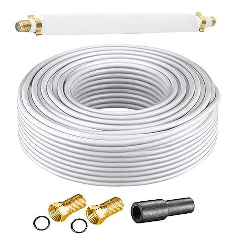 Cable de Antena Digital Anka Set 10 m Cable coaxial Cable ...