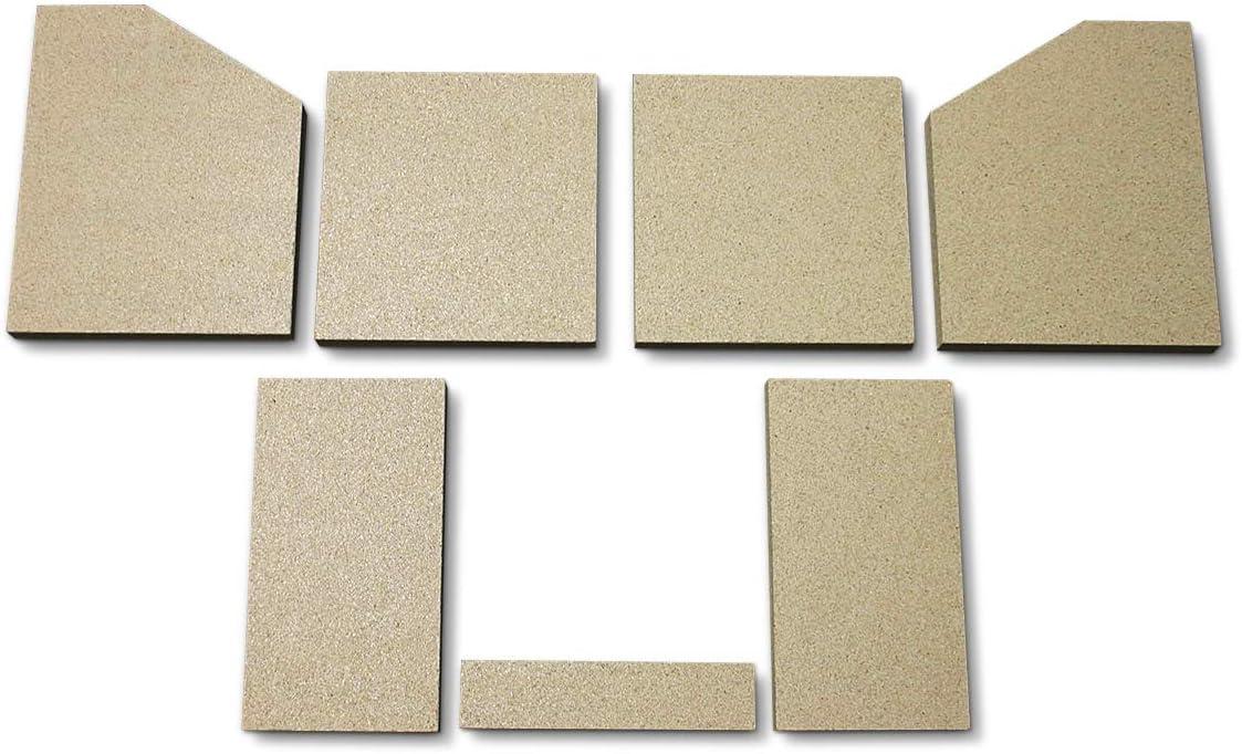 Feuerraumauskleidung für Oranier Polar 6 Kaminofen Brennraum Vermiculite Platten