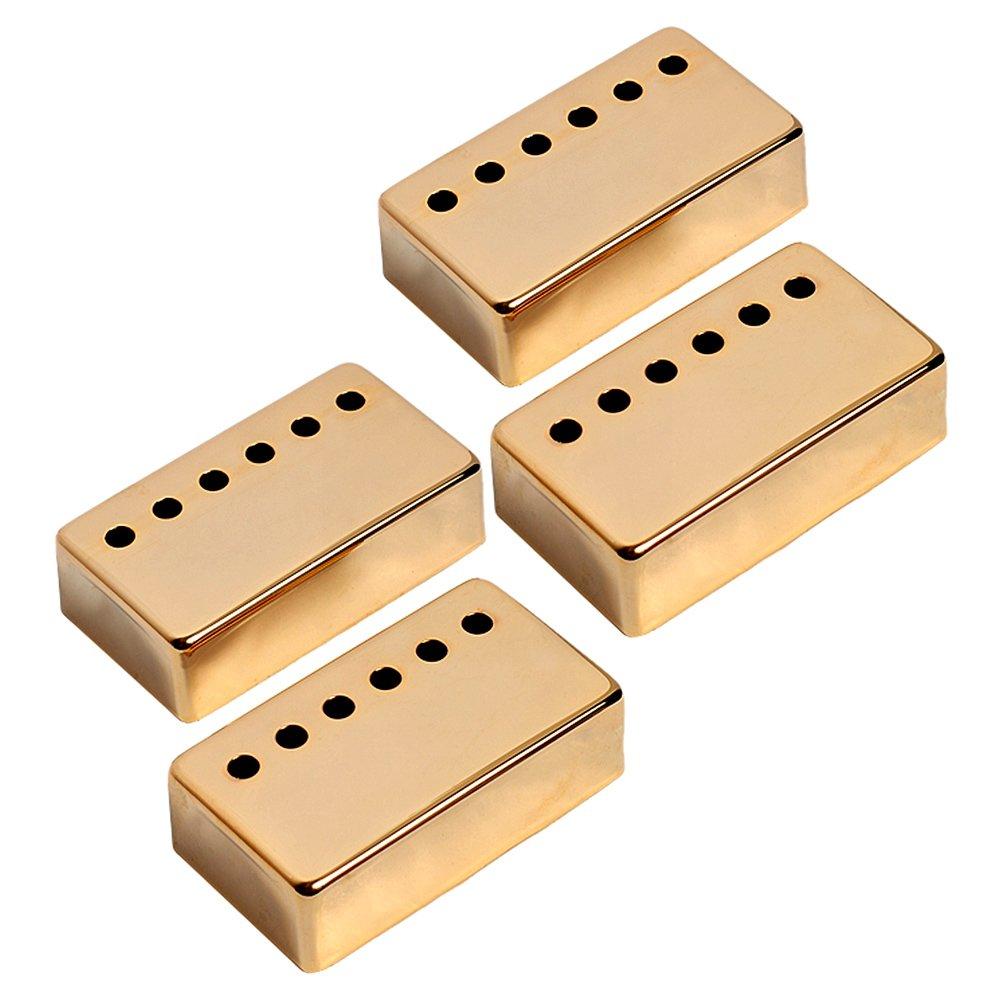 Kmise A7527 8ピース ピックアップブリッジカバー 52mmポールスペーシング Gibson LPギター交換用 ゴールド   B00S0ONSY8