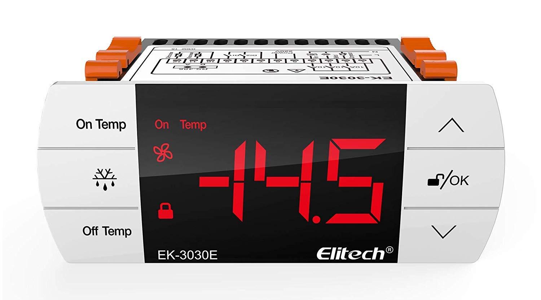 Elitech EK-3030E Thermostat de contr/ôleur de temp/érature avec capteur pour le Royaume-Uni et lEurope 220V