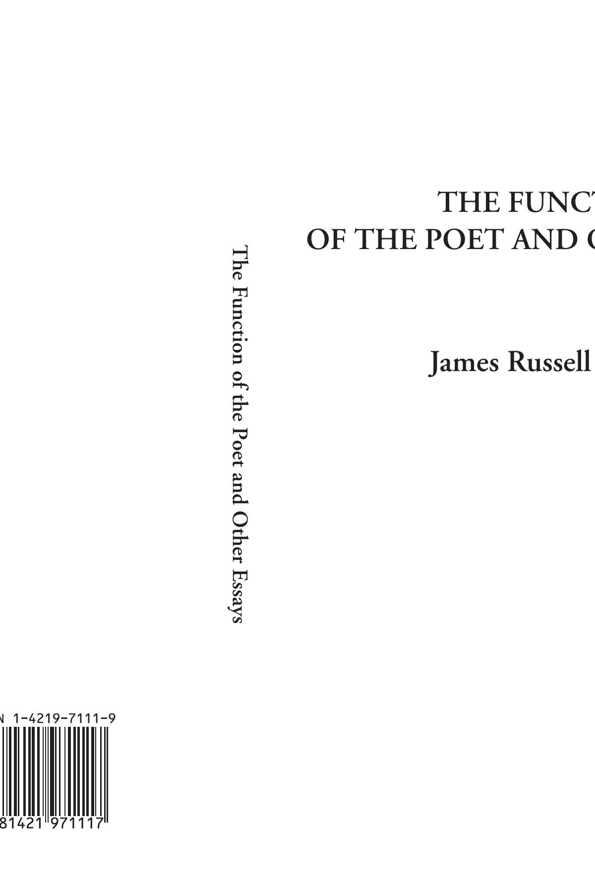 The Function of the Poet and Other Essays ebook