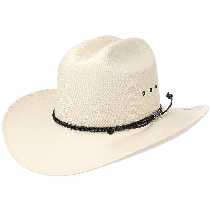 ba25a66b24f45 Stetson Carson Comfort 10X - Sombrero de Vaquero para hombre - beige   Amazon.es  Ropa y accesorios