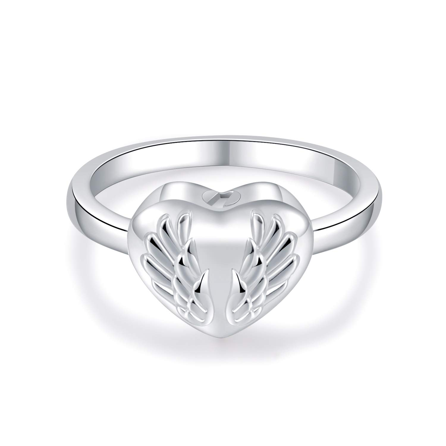 Silver Urn Ring Pet Urn Heart Urn Ring Pet Memorial for Cat or Dog Size 7 8 9 10 Cremation Memorial Jewelry Memorial Jewelry