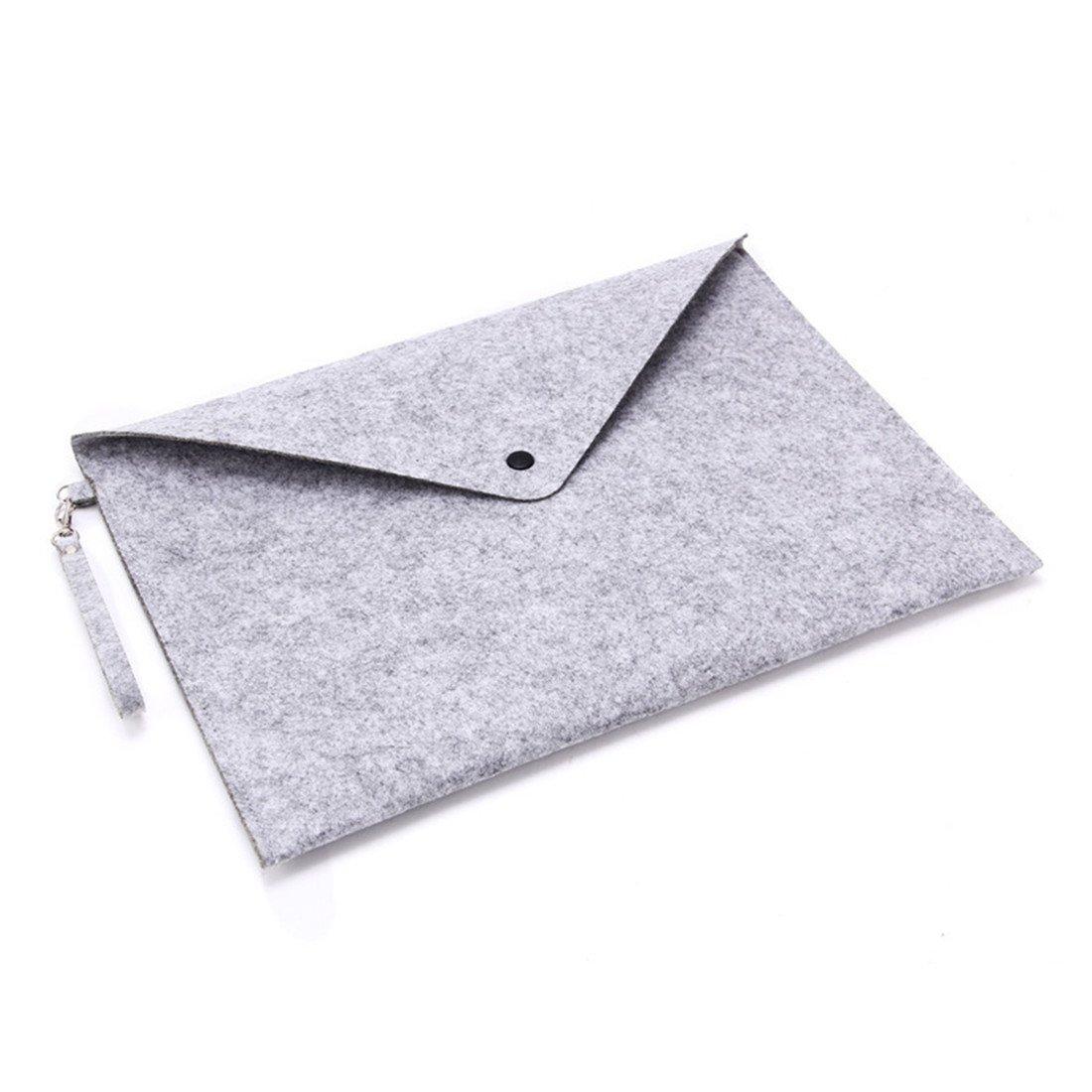 carpeta de documentos de lujo y duradera formato A4 Carpeta archivadora port/átil de fieltro extensible escuela gris claro organizador HOBOYER bolsa de almacenamiento de papel para oficina