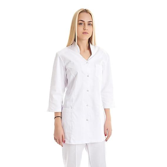 Vest Albus Bata de Laboratorio Sanitario Mujer Estudiantes Ciencia: Amazon.es: Ropa y accesorios