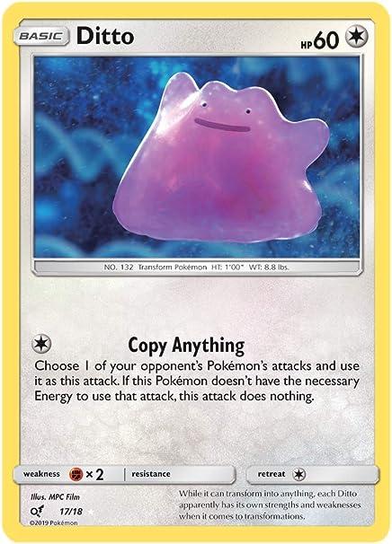 Detective Pikachu Holo Rare 17//18 Ditto