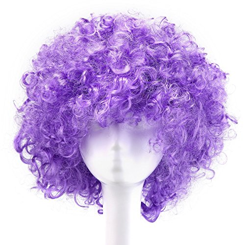 MapofBeauty 35cm Fashion Holiday Fluffy Funny Show Clown Wig (Light