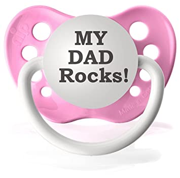 Amazon.com: My Dad ROCKS chupetes Chupete personalizado en ...