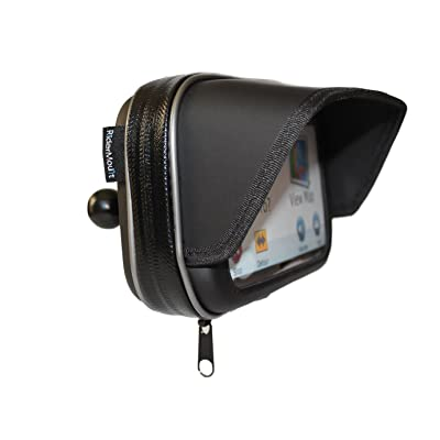 "RiderMount Waterproof Sunshade 5"" GPS Satnav Case with RAM Type 1"" Ball for Garmin Nuvi Tomtom Go Start 5 inch: MP3 Players & Accessories"