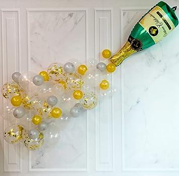 Amazon.com: 15 globos de botella de champán de 40.0 in para ...