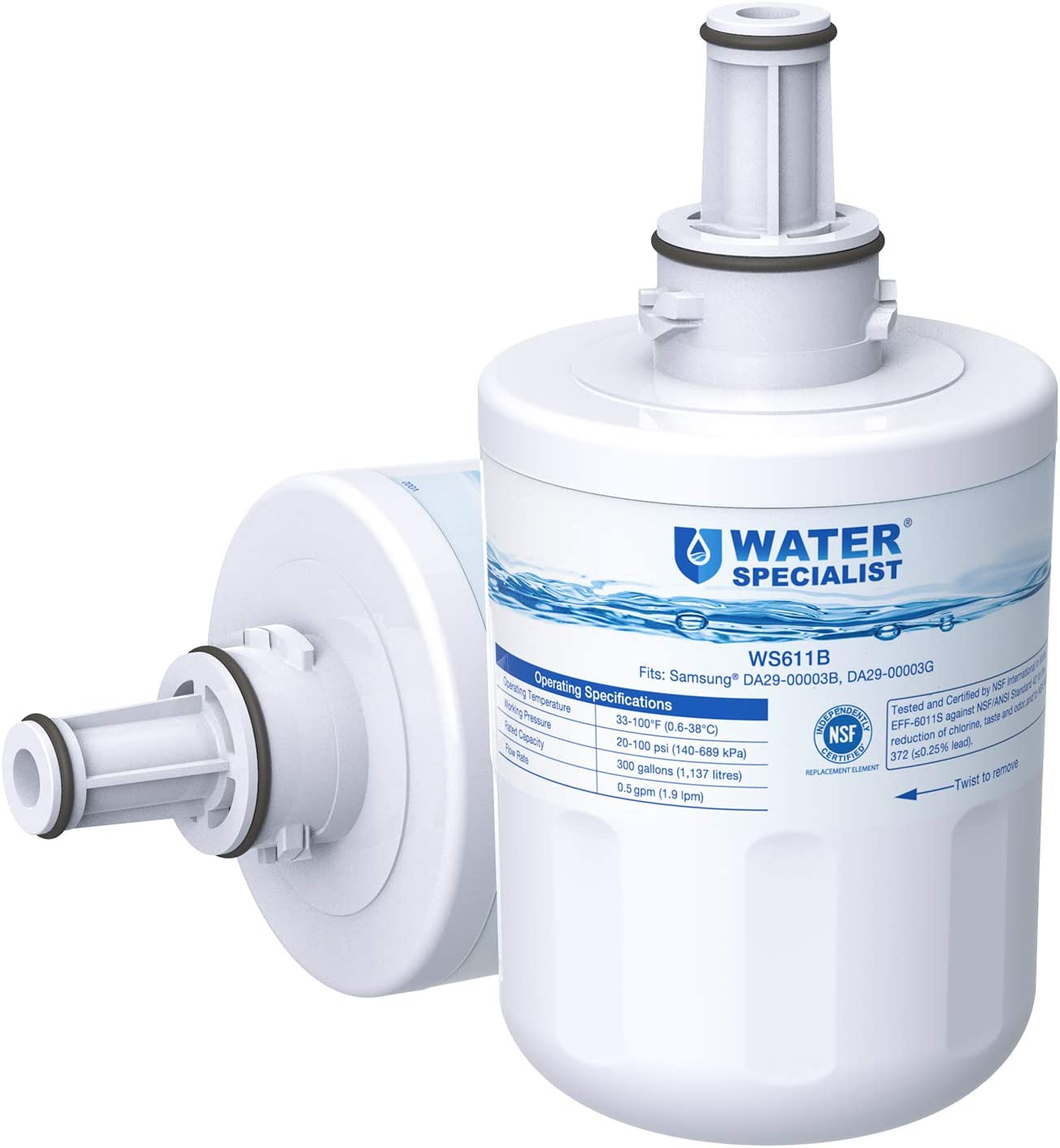 Funien Filtro de Repuesto Refrigerador Filtro de Repuesto Filtro de refrigerador Filtro de Agua de Repuesto para refrigerador Samsung DA29-00003G DA29-00003B DA29-00003A DA29-00003D