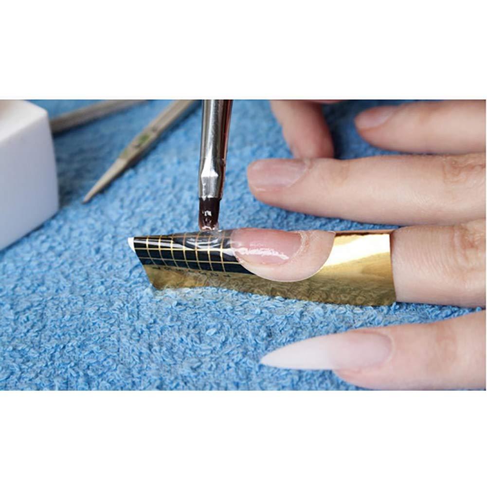 Hilai Nail Art Tips Guía de extensiones de uñas francés Diy herramienta acrílico UV Gel: Amazon.es: Belleza
