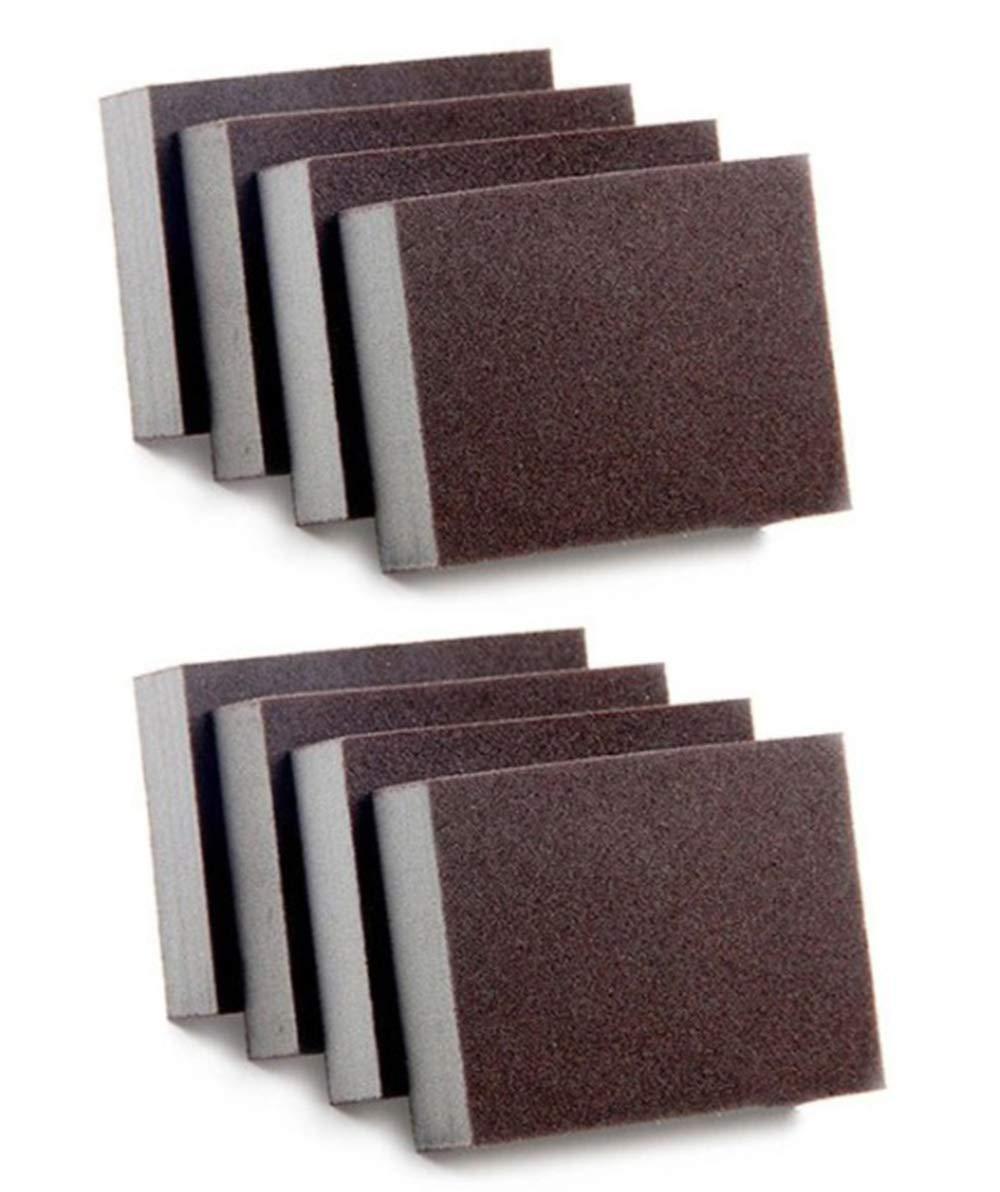 Sanding Sponge, Coarse Medium Fine Superfine Assortment Sanding Blocks, Washable and Reusable, 8 Pieces by FIVE CENTS