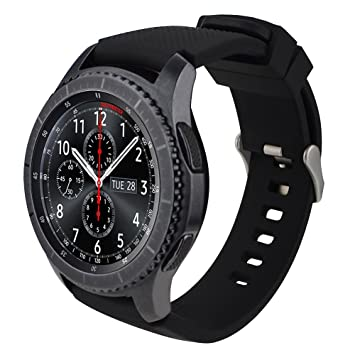iBazal 22mm Correa Silicona Pulseras Bandas Compatible con Samsung Galaxy Watch 46mm,Gear S3 Frontier Classic,Huawei GT/2 Classic/Honor Magic,Ticwatch ...