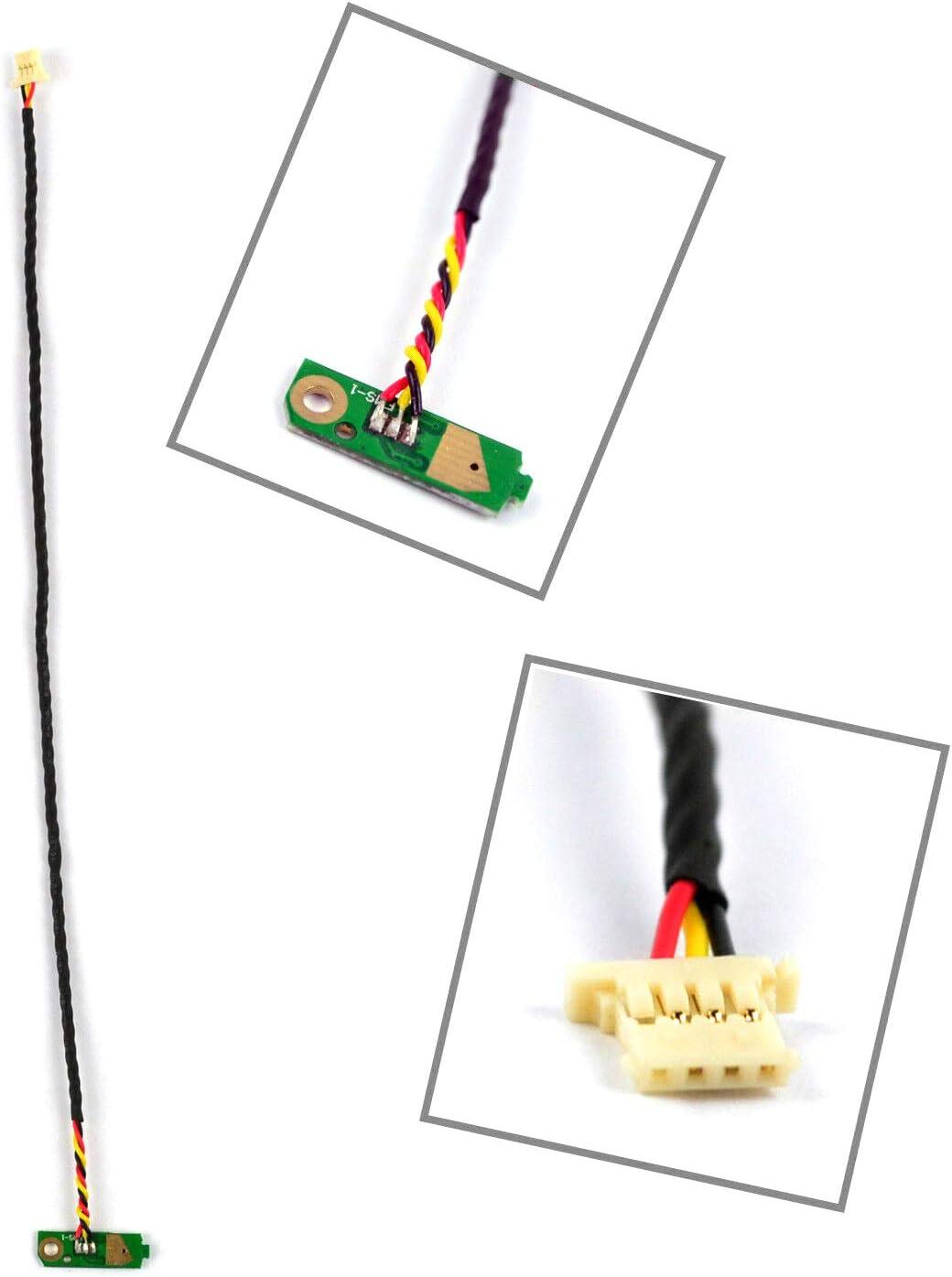 Power Button Board Connector Flex Cable Replacement Compatible with Dell Studio 1555 1557 1558 DD0FM8PB000 DD0FM8PB001