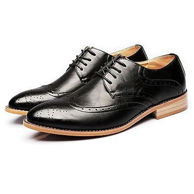 MXNET Chaussures en Cuir Oxford, Cuir Véritable Chaussures Crocodile Peau Texture Lace Up Oxfords Doublés D'affaires Respirant pour Les Hommes (Couleur : Black, Size : 38 EU)