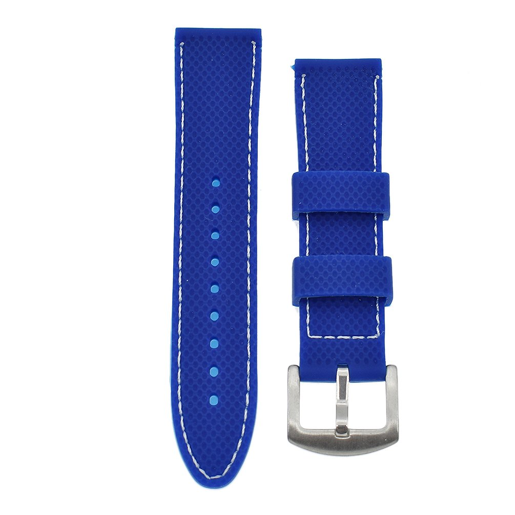 BetterUS Silicone Divers Sport Replacement Watch Band Strap Replacement 18mm 20mm 22mm 24mm
