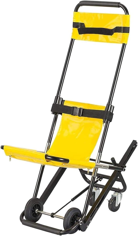 Silla plegable para escalera, bombero, ambulancia, evacuación de bombero, silla de escalera, operación para una sola persona, capacidad de 400 libras 0102