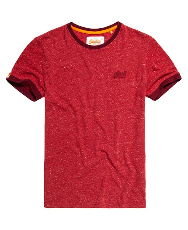 Superdry OL Cali Ringer T-Shirt Crew Neck Flint Rustic Red Grit