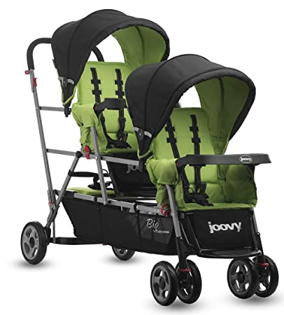 Amazon.com : Joovy Big Caboose Stand-On Triple Stroller, Appletree ...