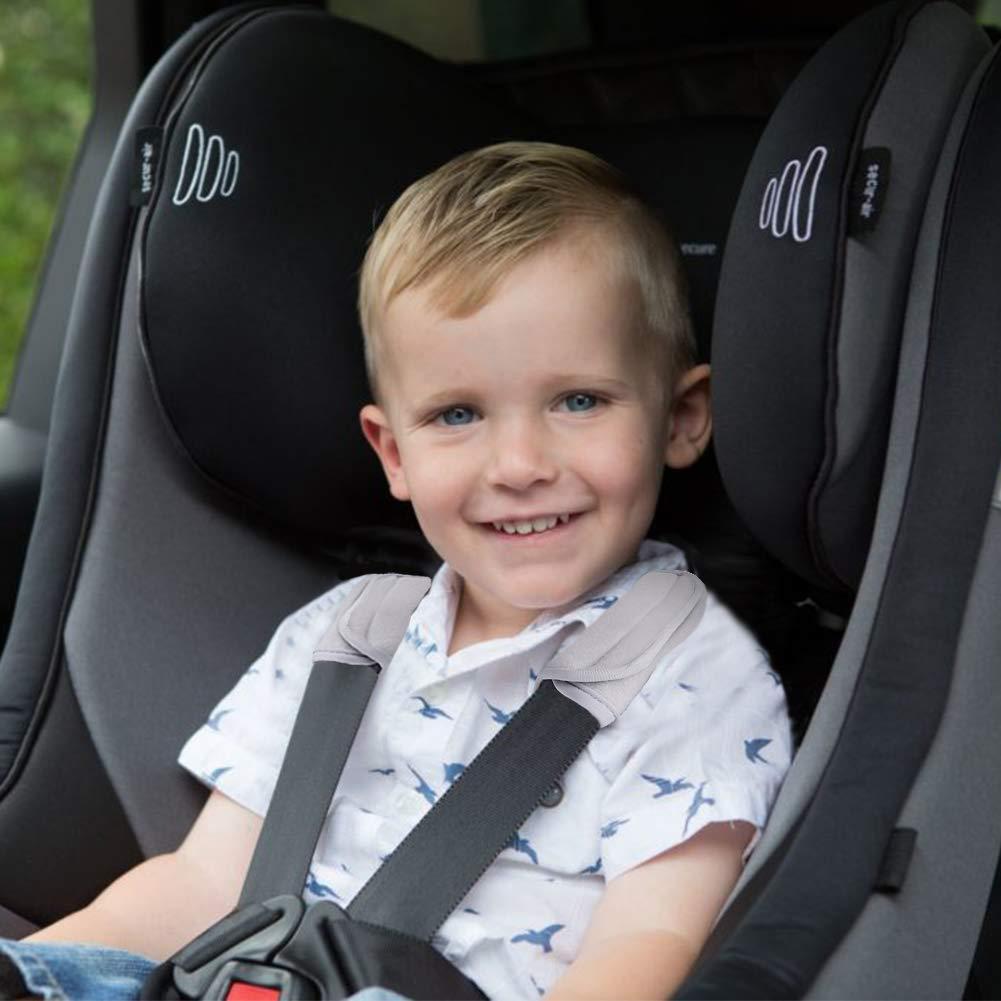 Anoopsyche Spallacci Morbidi Adatto per Zaino Cuscinetti per Cinture di Sicurezza per Bambini Correttore di Postura Protezione Ascella Cuscinetti Regolabili per Il Trasporto del Beb/è