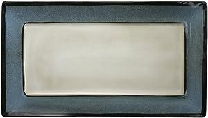 Gourmet Basics by Mikasa Belmont Blue Rectangular Serving Platter