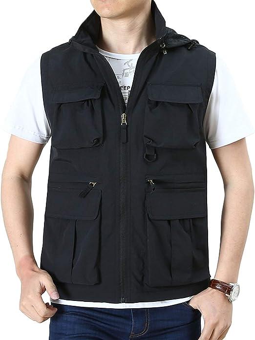 Hixiaohe Mens Causal Lightweight Outdoor Vest Fishing Travel Photo Safari Vest