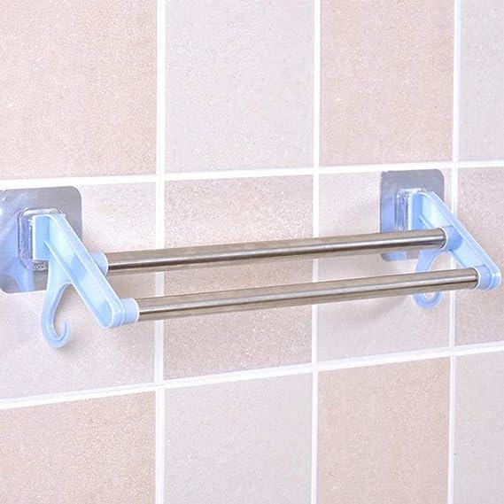 Facile da installare con Autoadesivo in Acciaio Inox Porta Asciugamani da Parete Non necessita di Fori sulle pareti Porta Asciugamani per Bagno e Cucina Blue Yuanbbo