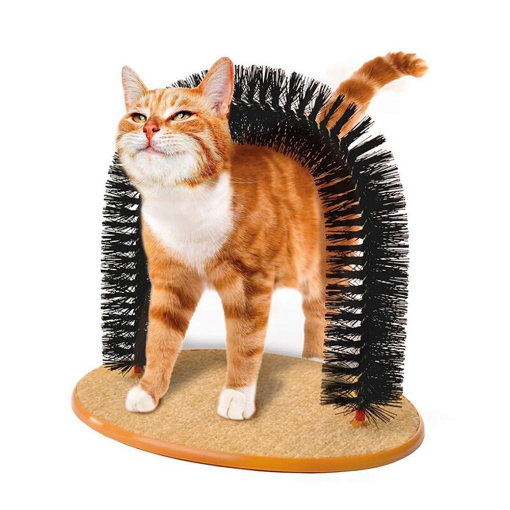 ZJY Pet Masajeador para Gatos, Juguete de Gato, Arch Self Groomer ...