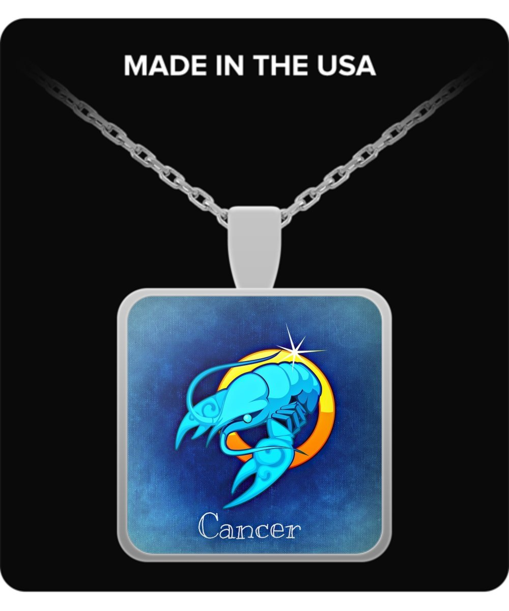 The Prince And His Rose Store Beautiful Cancer June 20 July 22 Square Pendant Necklace