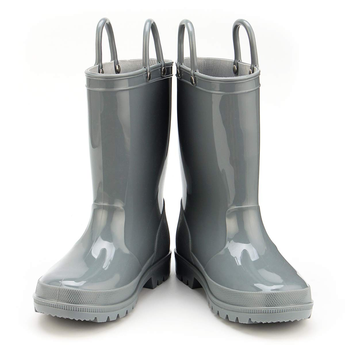 KomForme Kids Rain Boots, Environmental Material Boots with Memory Foam Insole and Easy-on Handles Grey by KKomForme (Image #3)